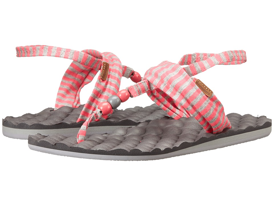 Freewaters - Riviera Print (Pink/Grey Stripe) Women's Shoes