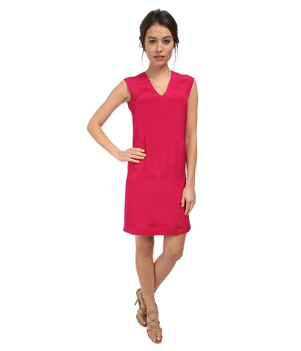 CoSTUME NATIONAL - V-Neck Shift Dress (Fuchsia) Women