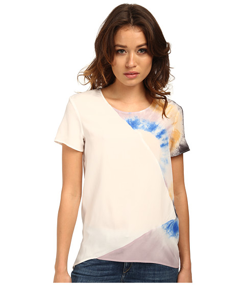 CoSTUME NATIONAL - Tie-Dye Tee (Black Royal Rope) Women's Short Sleeve Pullover