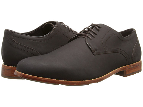 Rockport - Style Refinement Plaintoe (Dark Bitter Chocolate Nubuck) Men's Plain Toe Shoes
