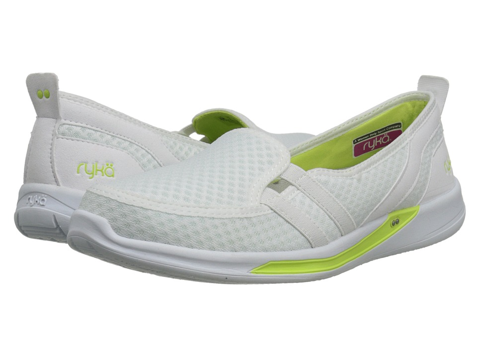 Ryka - Lily (White/Sharp Green/Chrome Silver) Women