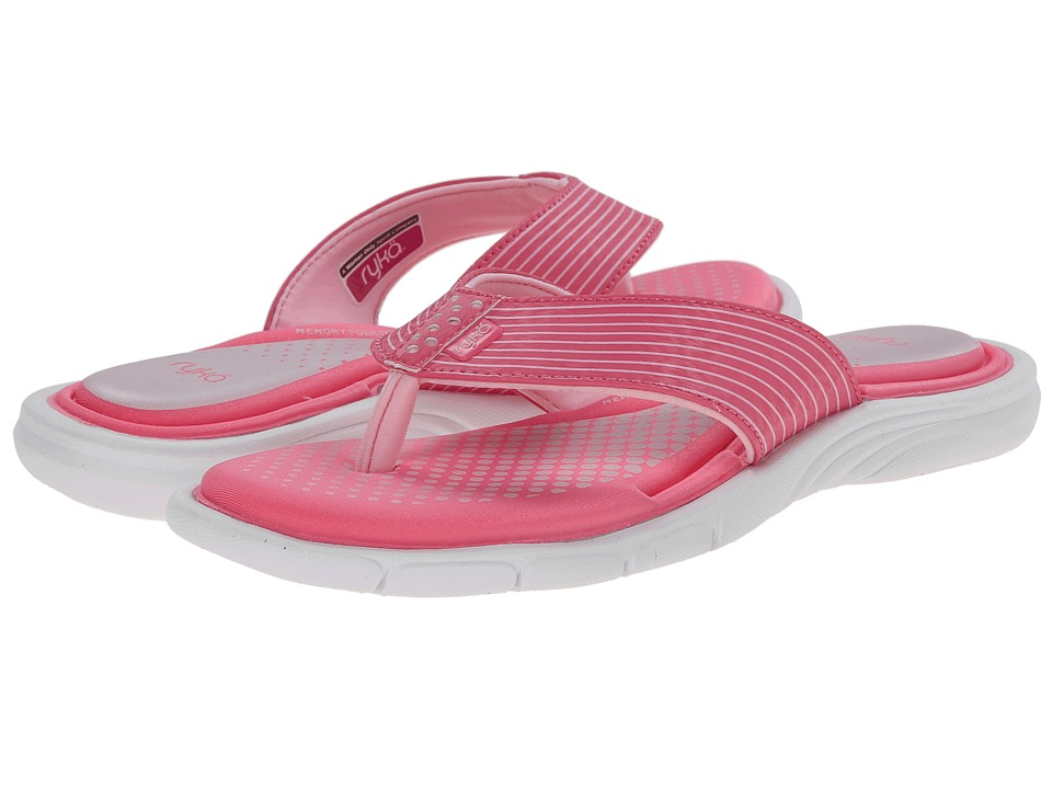 Ryka - Roanoke (Hot Pink/Candy Pink/White) Women's Sandals