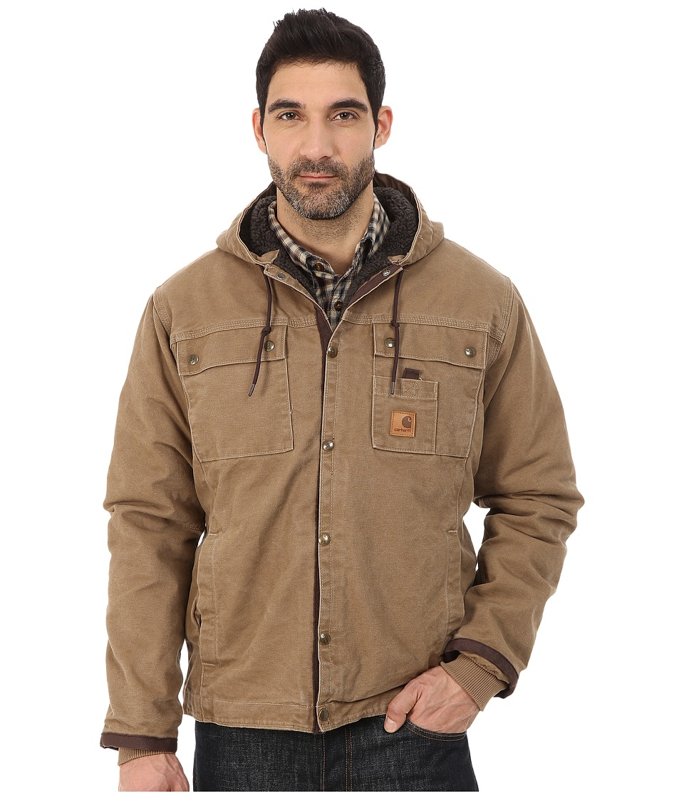 Carhartt - Sandstone Hooded Multi Pocket Jacket (Frontier Brown) Men's Coat