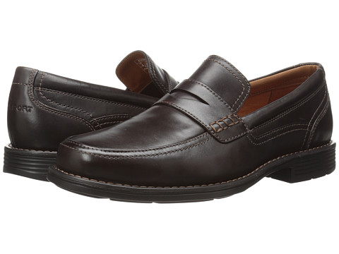 Rockport - Day Trading Penny (Dark Brown) Men's Slip-on Dress Shoes