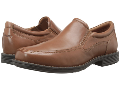 Rockport - Day Trading Twin Gore Slip-on (Tan) Men's Slip-on Dress Shoes