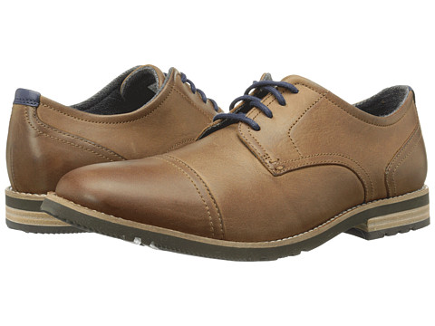Rockport - Ledge Hill Too Cap Oxford (New Caramel) Men's Lace Up Cap Toe Shoes