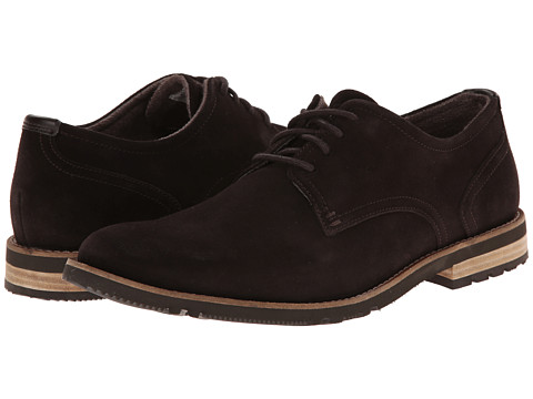 Rockport - Ledge Hill 2 Plain Toe Oxford (Dark Bitter Chocolate Suede) Men's Lace up casual Shoes