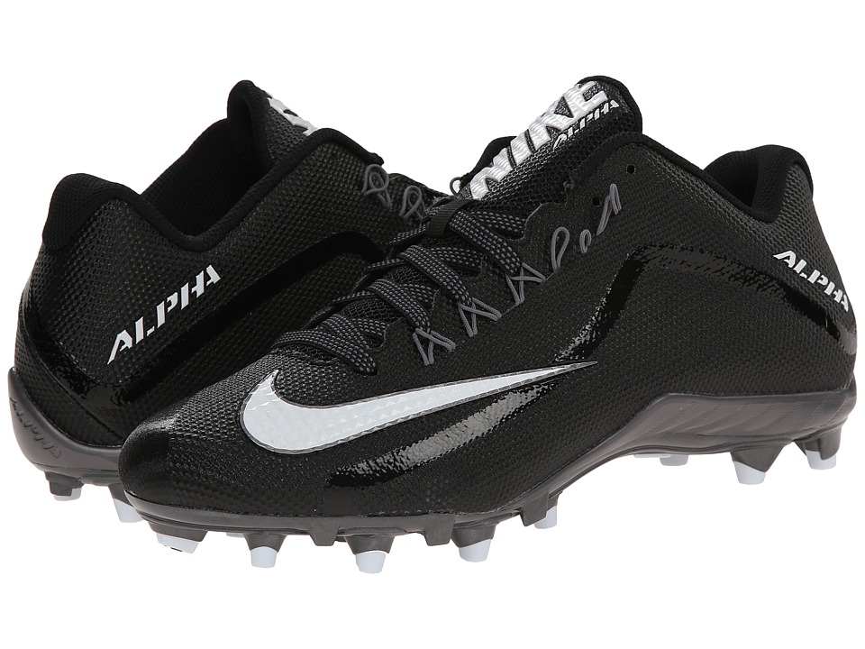Nike - Alpha Pro 2 TD (Black/Metallic Dark Grey/White) Men's Cleated Shoes