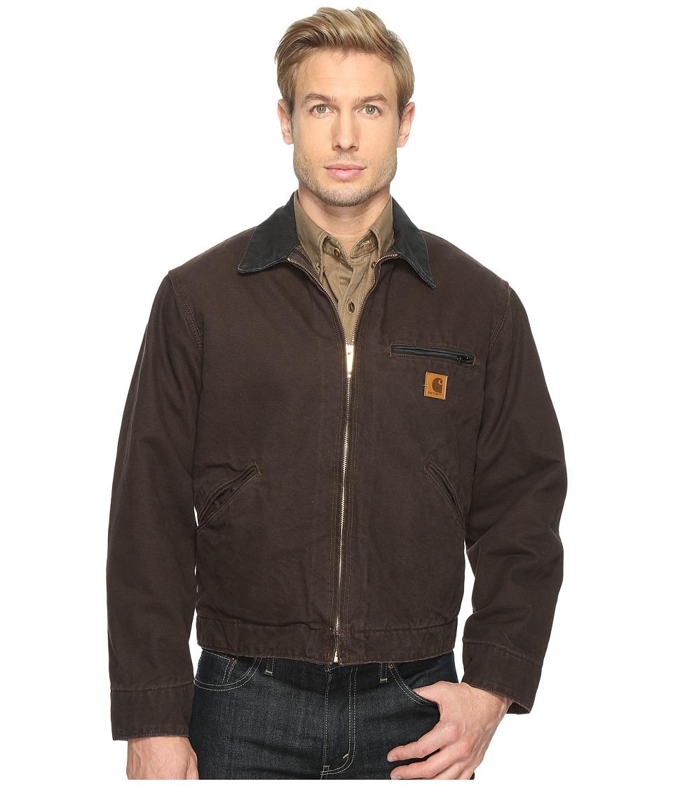 Carhartt - Sandstone Detroit Jacket (Dark Brown) Men's Jacket