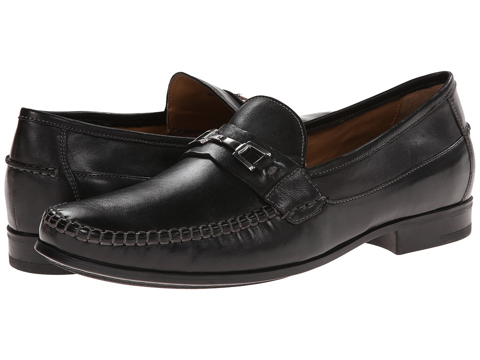 Johnston & Murphy - Cresswell Bit Venetian (Black Sheepskin) Men's Slip-on Dress Shoes