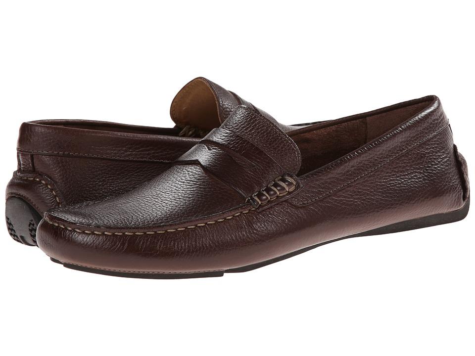 Johnston & Murphy - Hardiman Penny (Dark Brown Tumbled Full Grain) Men's Slip-on Dress Shoes