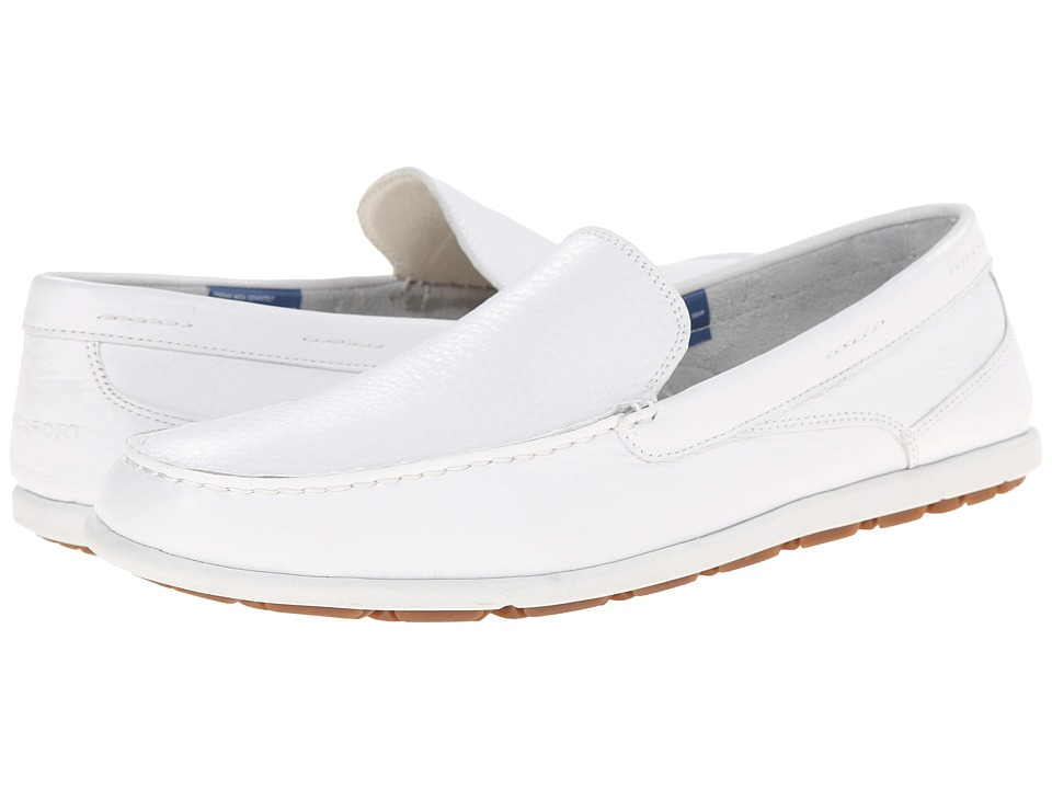 Rockport - Bennett Lane 3 Cape Noble 3 Venetian (White Washable Leather) Men's Slip on Shoes