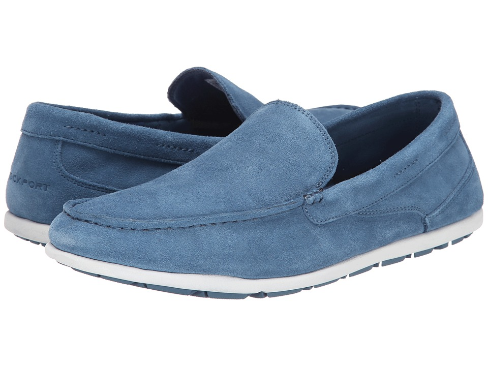 Rockport - Bennett Lane 3 Cape Noble 3 Venetian (Cameo Blue Washable Suede) Men's Slip on Shoes