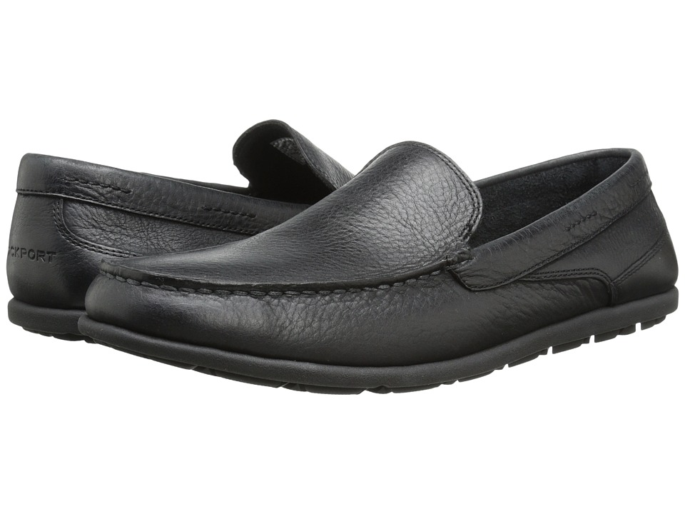 Rockport - Bennett Lane 3 Cape Noble 3 Venetian (Black Smooth) Men's Slip on Shoes