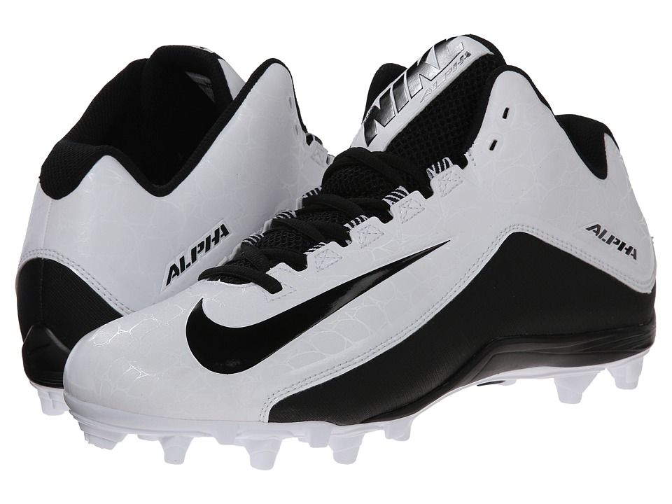 Nike - Alpha Strike 2 3/4 TD (White/Black) Men's Cleated Shoes