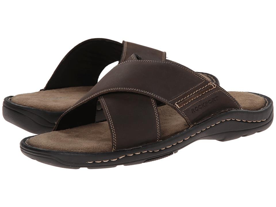 Rockport - Kevka Lake Crossband (Stone) Men's Slide Shoes