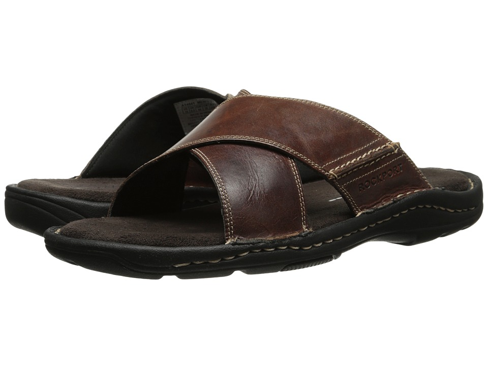 Rockport - Kevka Lake Crossband (Brown) Men's Slide Shoes