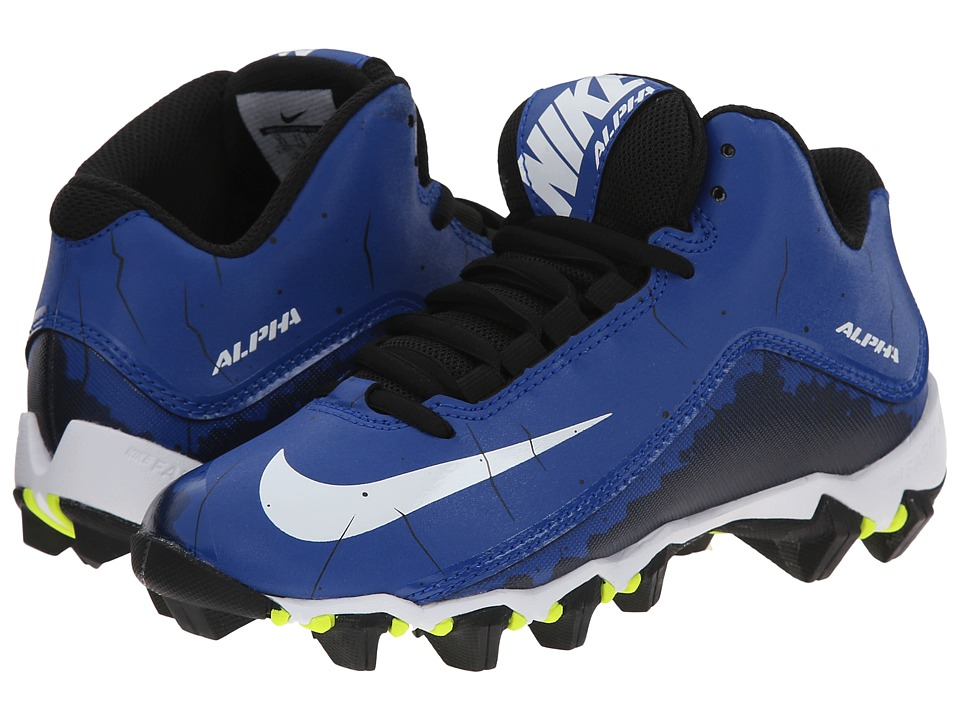 Nike Kids Alpha Shark 2 3/4 BG Football (Toddler/Little Kid/Big Kid) (Sport Royal/Black/White) Boys Shoes