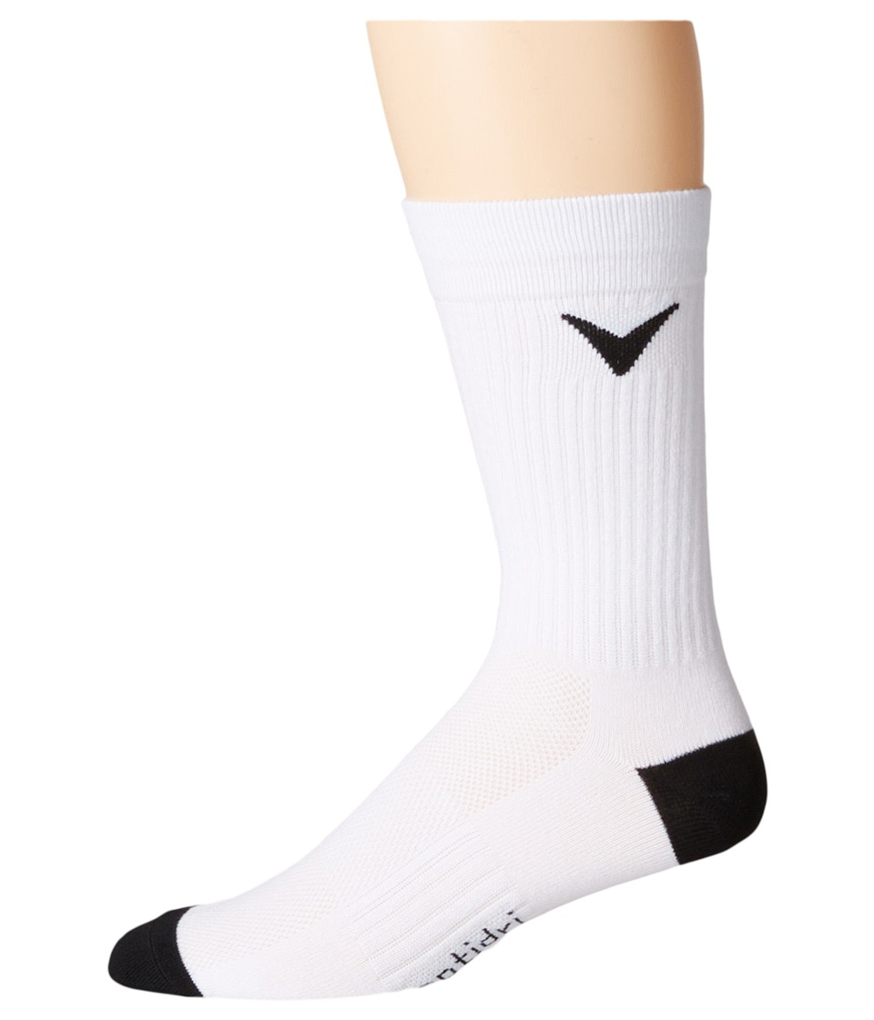 Callaway - Tour Tech Crew Three-Pair Pack (White) Men's Crew Cut Socks Shoes