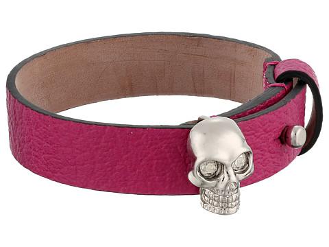 Alexander McQueen - Skull Leather Bracelet (Bouganville) Bracelet