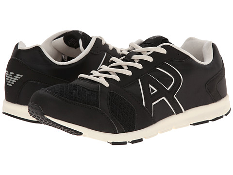 Armani Jeans - Lightweight Cross Trainer (Black) Men's Shoes
