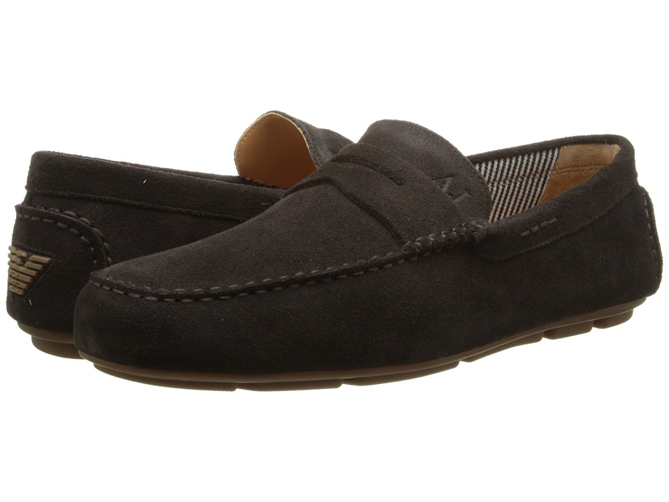 Armani Jeans - Loafer Driver (Brown) Men's Slip on Shoes