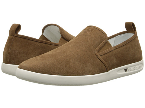 Armani Jeans - Slip-on (Brown) Men's Slip on Shoes