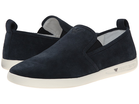 Armani Jeans - Slip-on (Navy) Men's Slip on Shoes