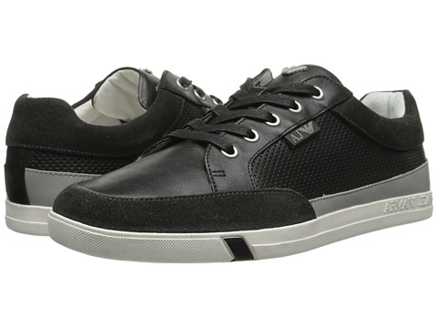 Armani Jeans - Panel Sneaker (Black) Men's Shoes