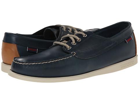 Sebago - Campsides (Dark Blue Leather) Men's Lace Up Moc Toe Shoes