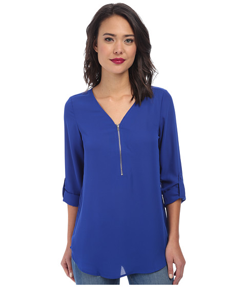 Christin Michaels - Rachel Blouse (Soft Cobalt) Women