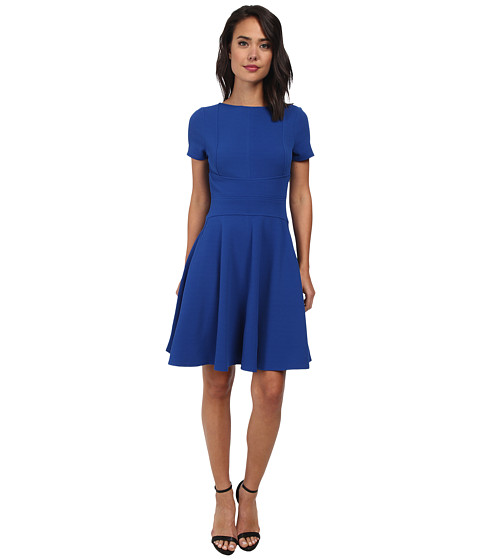 Christin Michaels - Hailey Fit and Flare Dress (Blue) Women