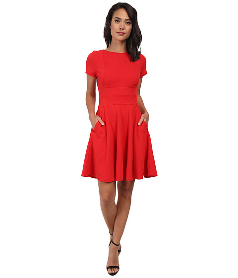 Christin Michaels - Hailey Fit and Flare Dress (Red) Women