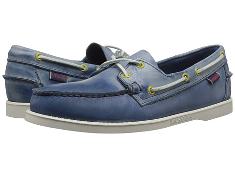Sebago - Dockside (Blue Waxy Leather) Men's Shoes