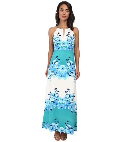 Christin Michaels - Kelly Maxi Dress (Jade/Blue Multi) Women