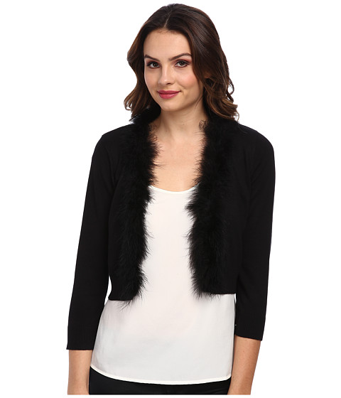 rsvp - Florence Faux-Fur Cardigan (Black) Women's Sweater