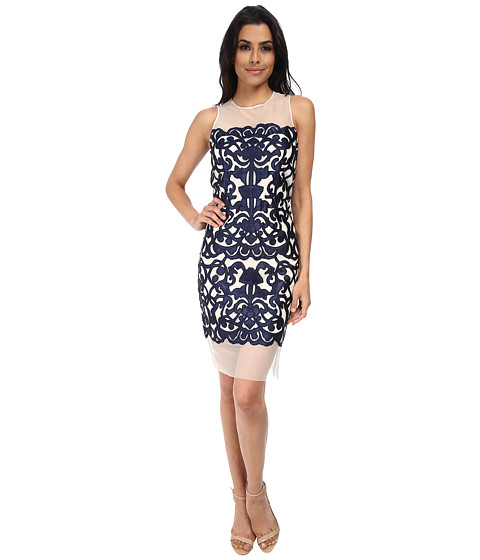 rsvp - Azalea Brocade Dress (Blue/Navy) Women's Dress