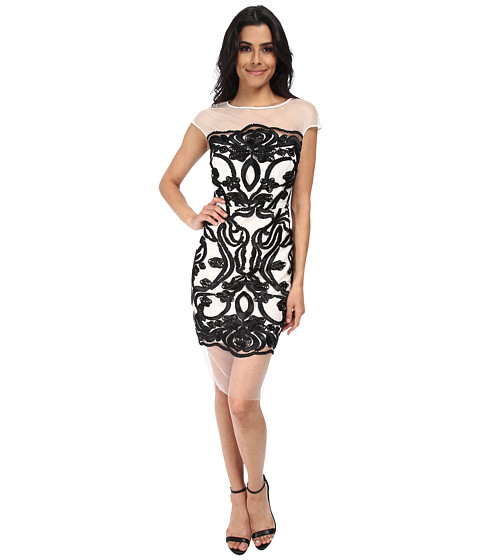 rsvp - Haley Floral Brocade Dress (White/Black) Women's Dress