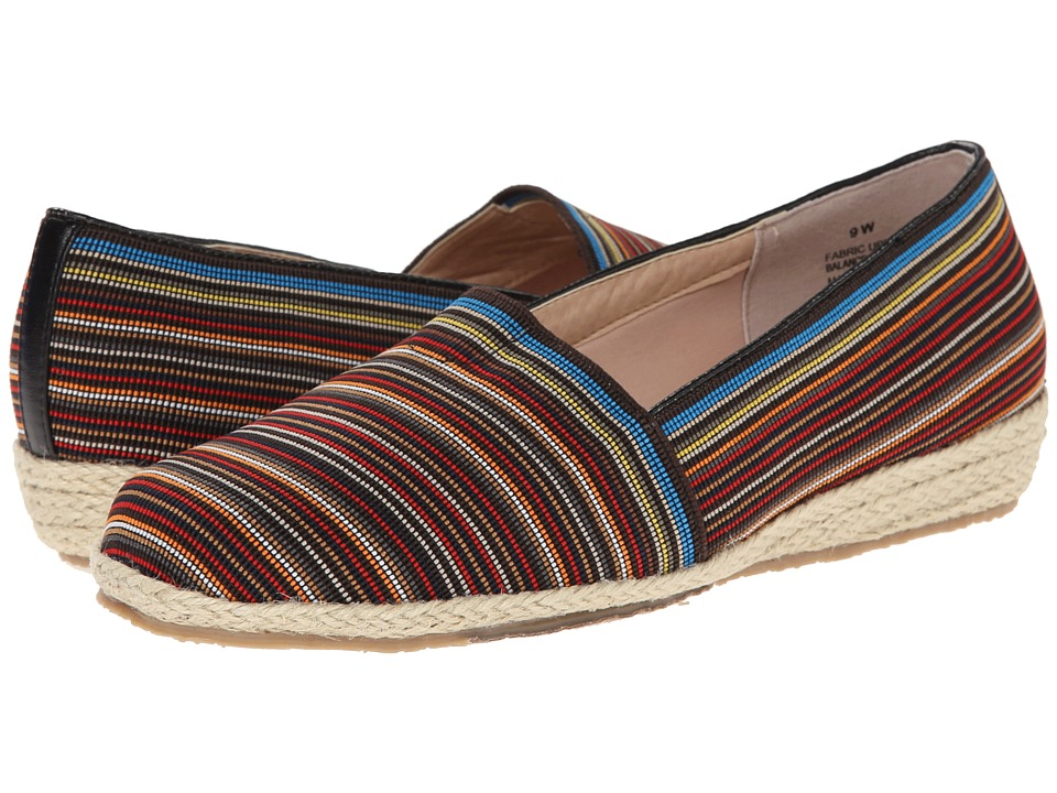 Fitzwell - Alice (Black Multi Stripe Fabric) Women