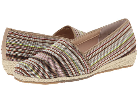 Fitzwell - Alice (Khaki Multi Stripe Fabric) Women's Shoes