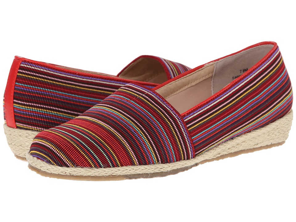 Fitzwell - Alice (Red Multi Stripe Fabric) Women's Shoes