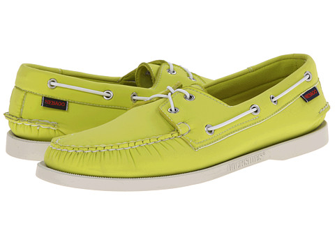 Sebago - Dockside Neoprene (Bright Green Neoprene) Men