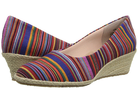 Fitzwell - Port (Guatemalan Stripe Fabric) Women's Shoes