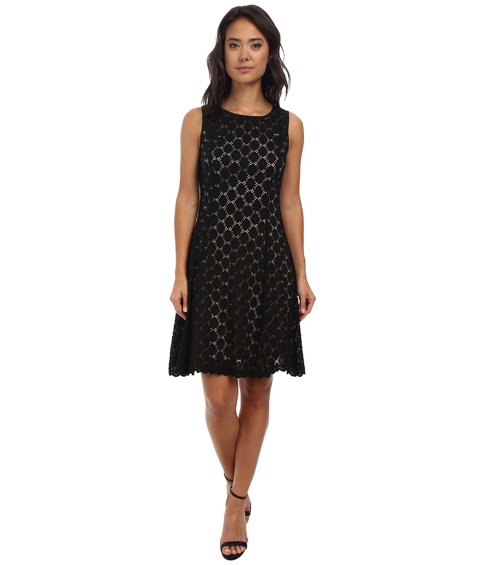 rsvp - Heartlines Lace Dress (Black/Nude) Women's Dress