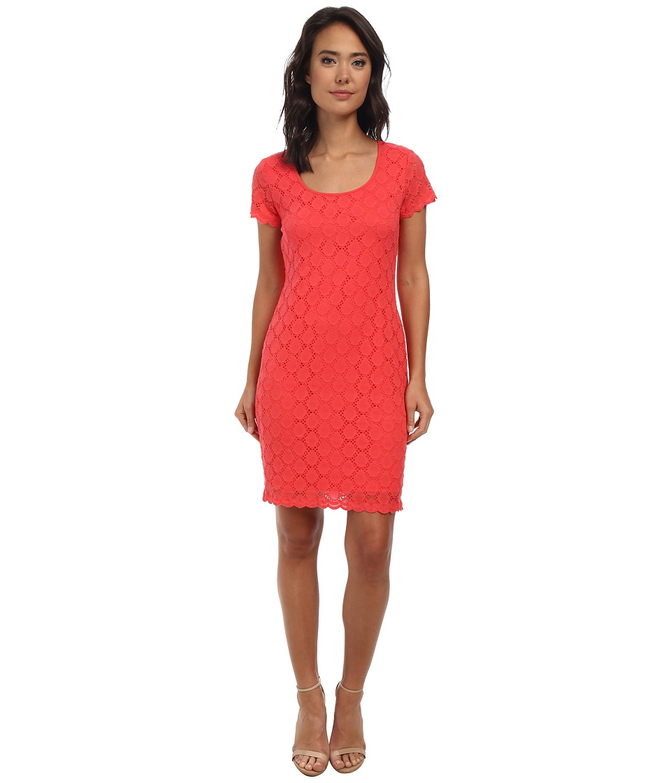 rsvp - Tammy Lace Dress (Coral) Women's Dress