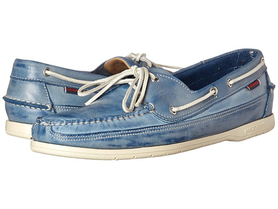 Sebago - Schooner (Blue Waxy Leather) Men