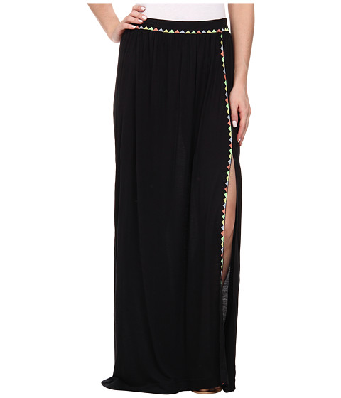 Brigitte Bailey - Bombe Slit Maxi Skirt (Black Combo) Women's Skirt