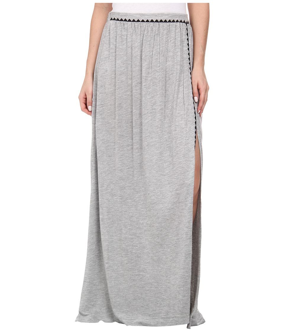 Brigitte Bailey - Bombe Slit Maxi Skirt (Grey Combo) Women