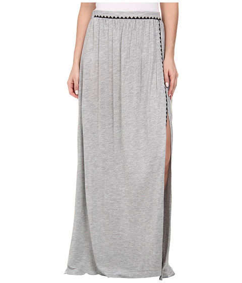 Brigitte Bailey - Bombe Slit Maxi Skirt (Grey Combo) Women's Skirt