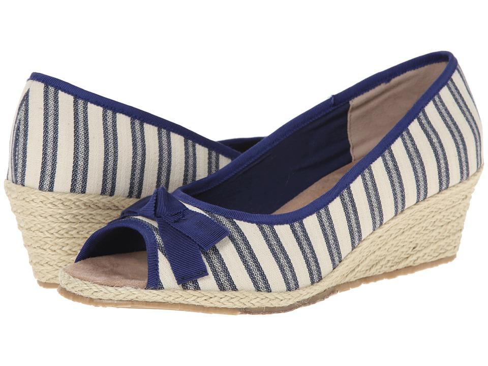 Fitzwell - Regina (Natural/Blue Fabric Stripe) Women